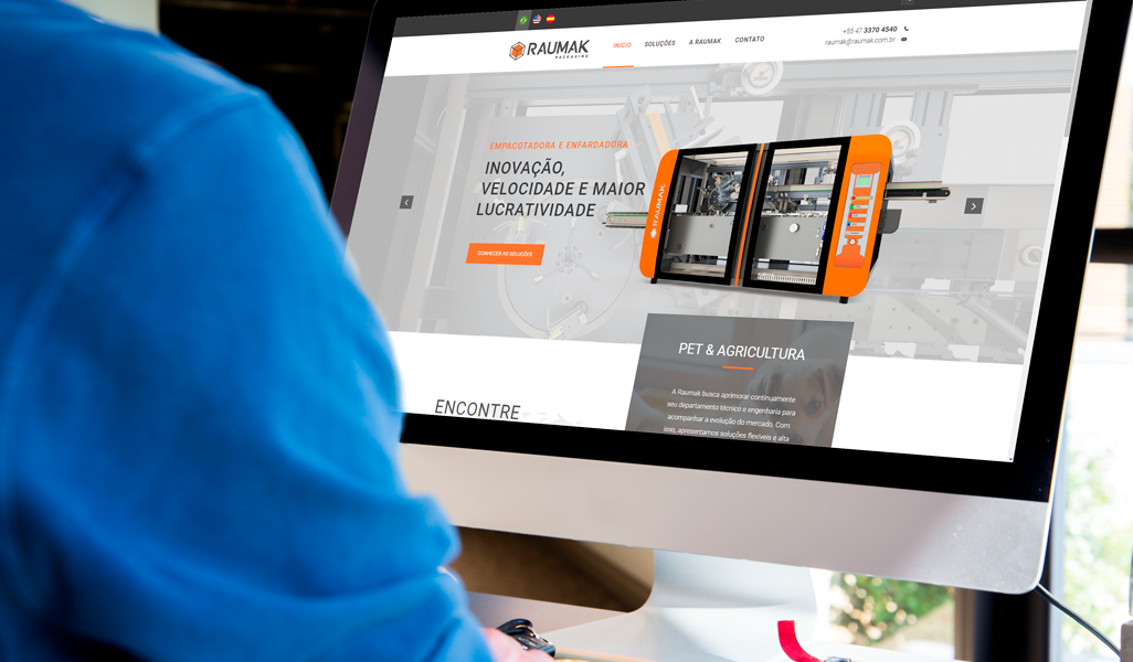 Website responsivo Raumak